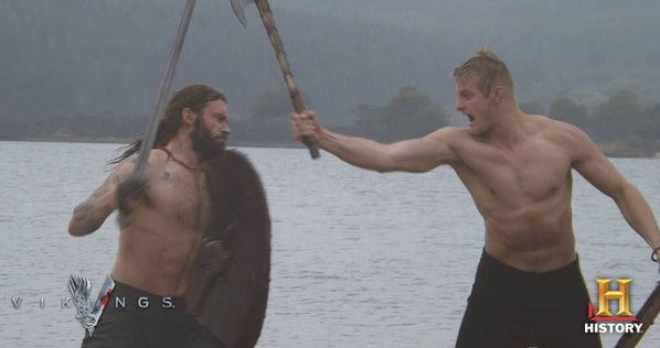 Bjorn and Rollo spar