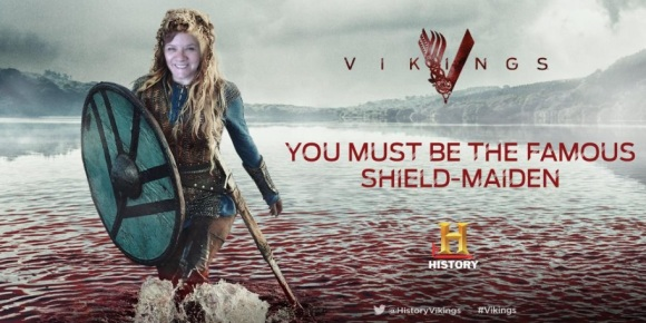 History Vikings shield maiden graphic