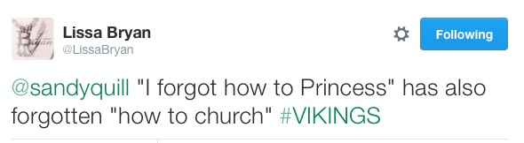 princess in church tweet lissa